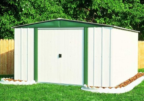 Arrow Hamlet HM Steel Storage Shed, 10 x 8 feet