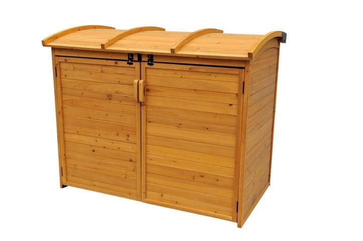 Leisure Season Horizontal Refuse Storage Shed Closed