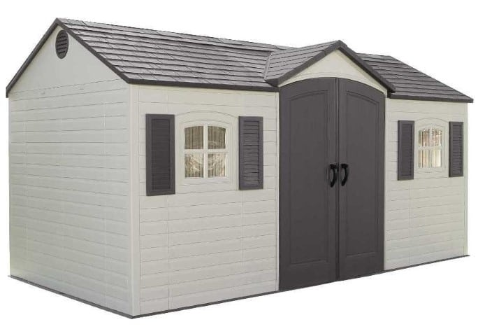 Lifetime 6446 15-by-8 Foot Outdoor Storage Shed