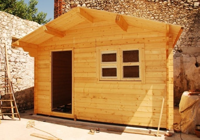 Almost Complete Wooden Shed With Window