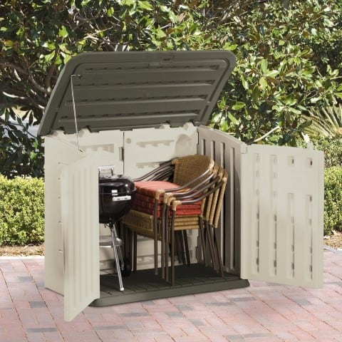 Rubbermaid Horizontal Storage Shed open