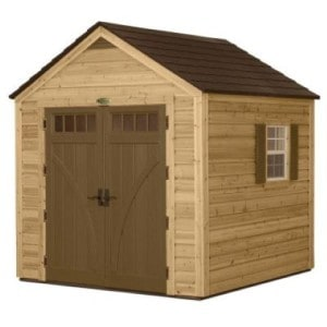 Suncast Cedar and resin hybrid shed