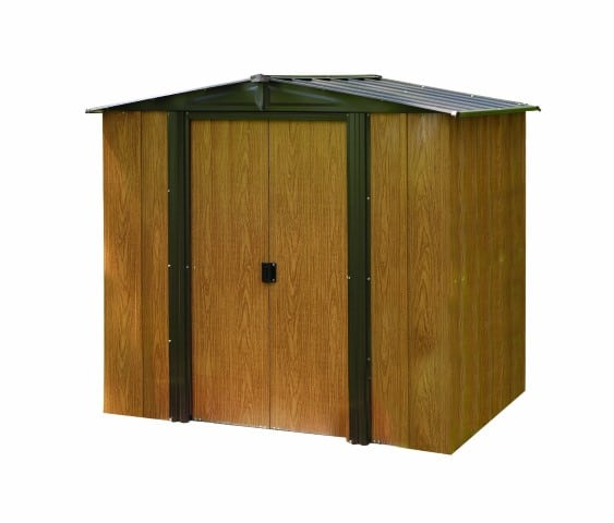 Arrow WL65 Woodlake 6-Feet by 5-Feet Steel Storage Shed