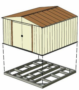 Arrow shed foundation