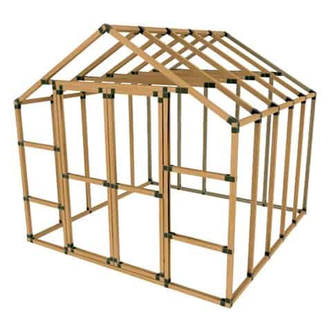 E-Z Frames 10x10 Storage Shed Kit