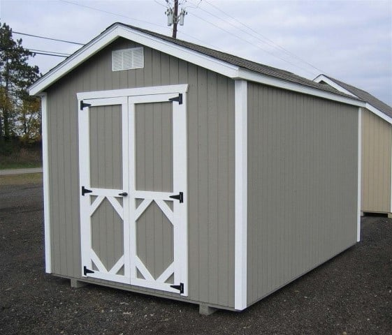 Classic wood gable shed