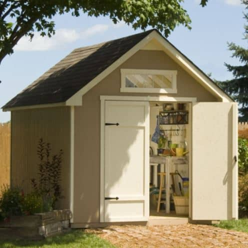 Everton shed with above door slimline shed window