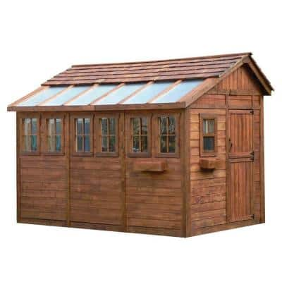 Shed with Polycarbonate Roof