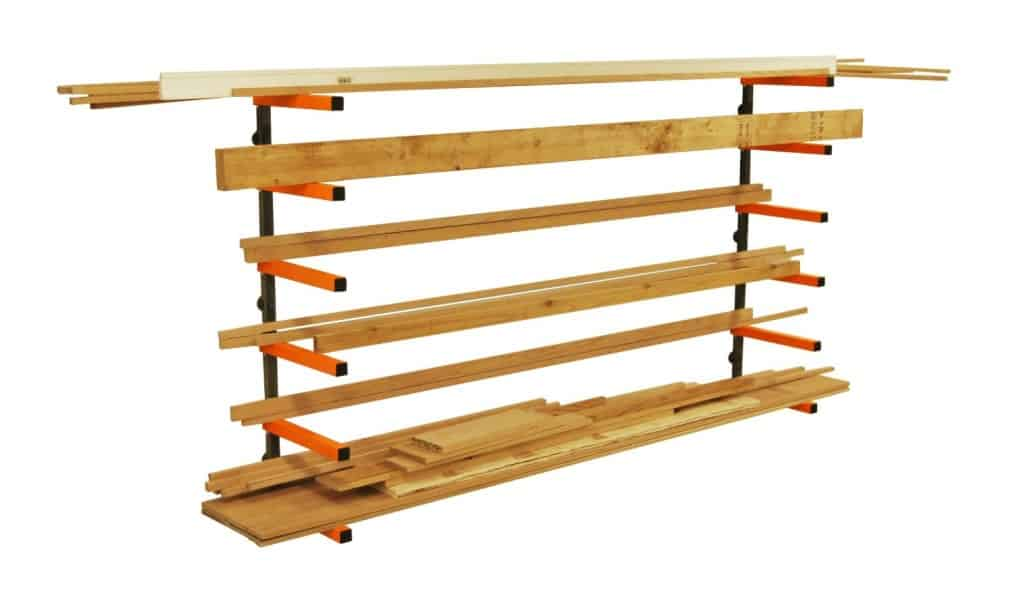Wood storage lumber