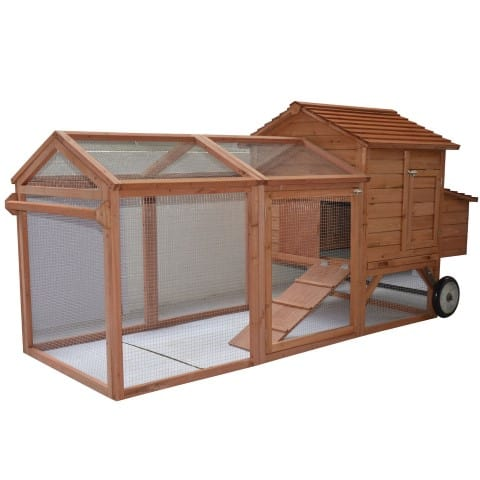 Pawhut Wheeled Tractor Hen House