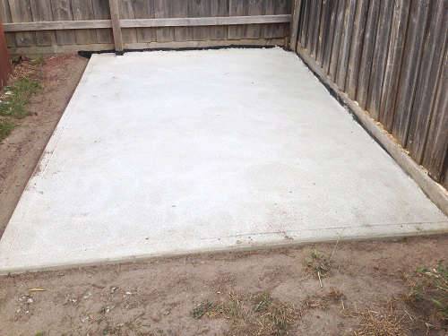 How to pour a concrete slab for a shed for House built on concrete slab