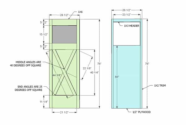 shed door plans ana white