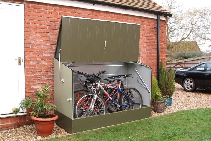 Bosmere trimetals bicycle secure storage
