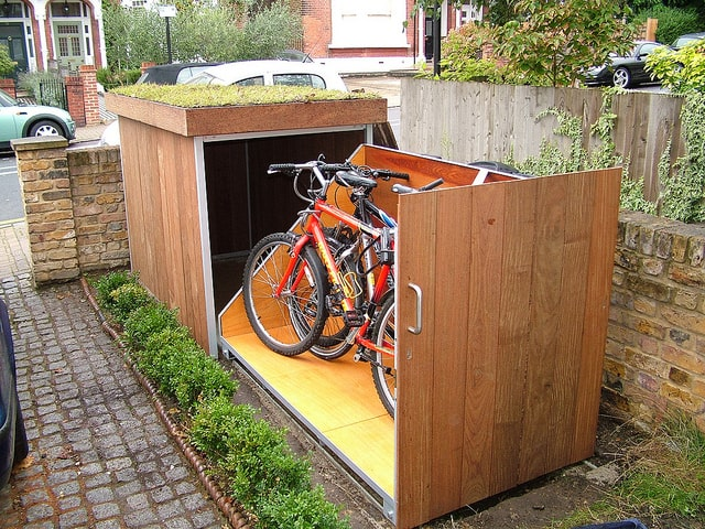 treesaurus secure bike shed