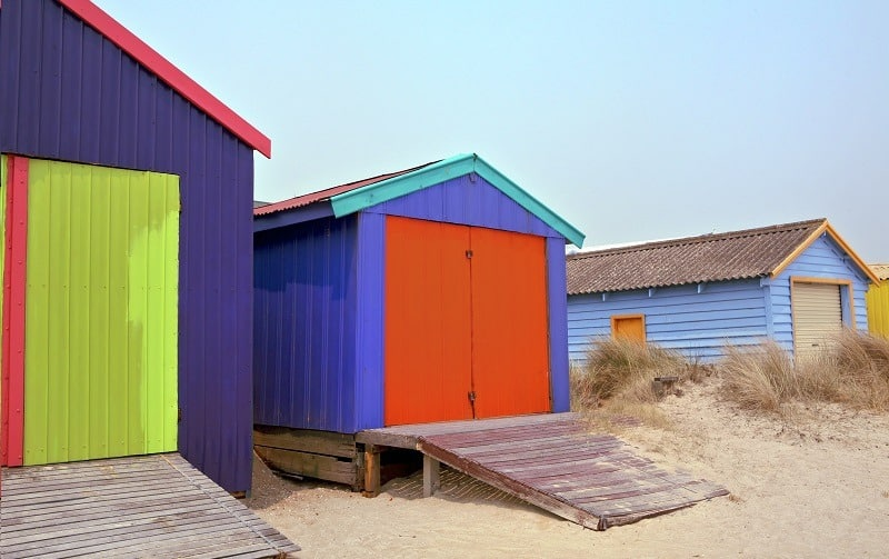 Shed Ramps on the beach