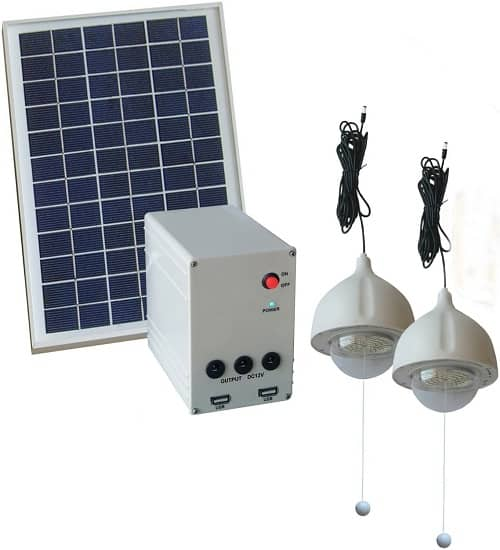 shed lights with solar panel and battery backup