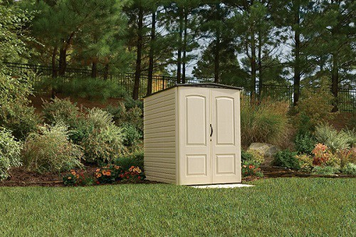 Plastic Garden Sheds in Yard Setting