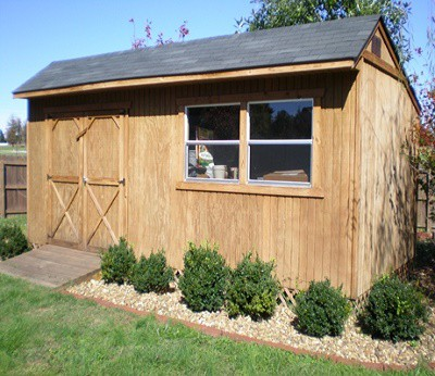 Saltbox shed roof