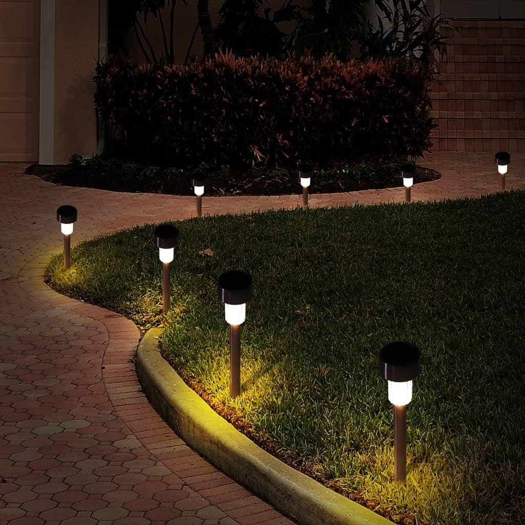 Curb appeal ideas - pathway lighting