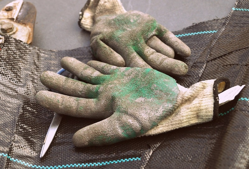 Best Garden Gloves - Close up of well loved and used gloves