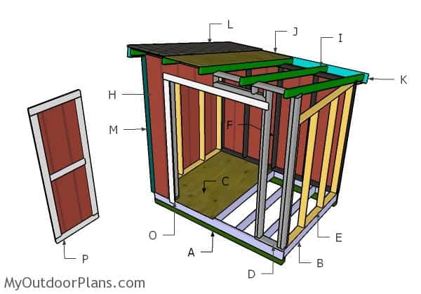 Building-a-6x8-Lean-to-shed