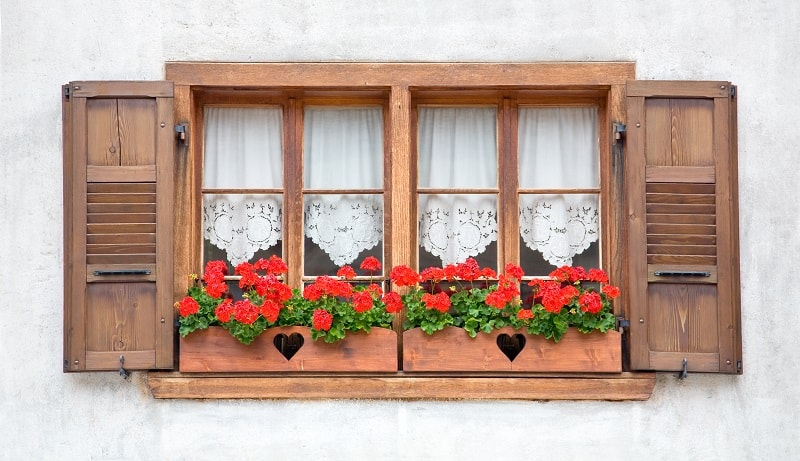 Curb appeal ideas - flower window boxes