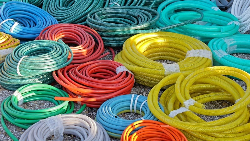 Garden Hoses - Big Bunch of Garden Hoses in Coils