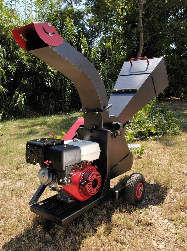 Gas powered garden mulcher