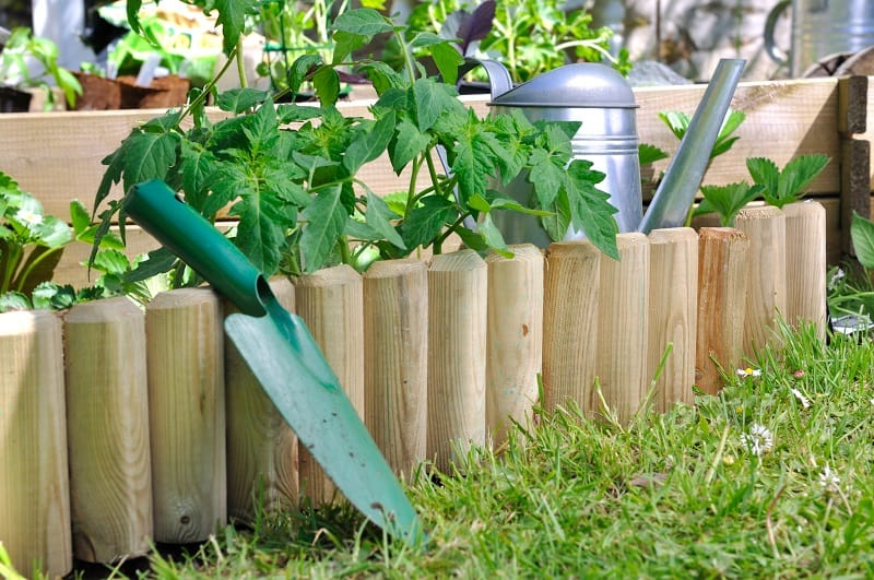 Cheap Landscaping Edging Idea - Planks of Lumber