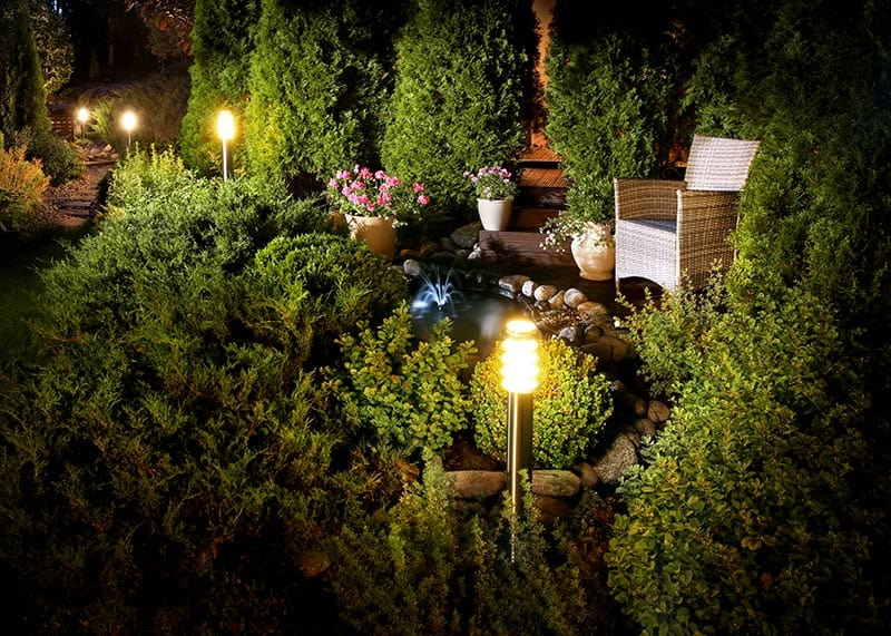 Cheap Landscaping Lights - A good example of a nice effect for little money