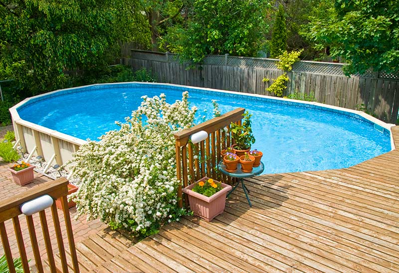 Landscaping Ideas for Above Ground Pools - Zacs Garden on small outdoor swimming pool ideas, pool deck ideas, swimming pool landscaping ideas, backyard with pool design ideas, semi inground pool ideas, backyard deck idea patio design, affordable backyard pool ideas, backyard landscape design ideas,