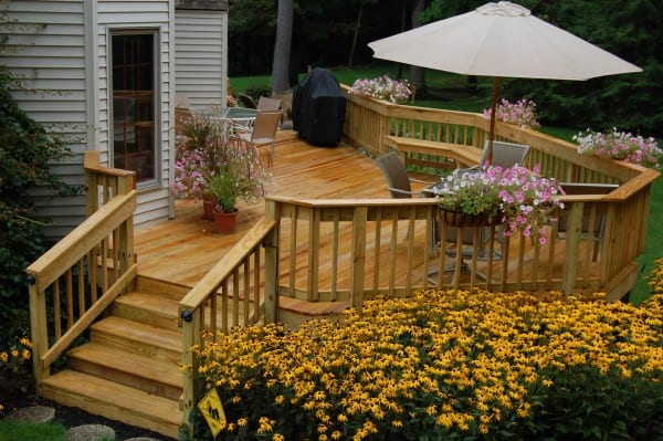 Landscaping Ideas to Transform the Area Around Your Deck on Wood Patio Ideas id=58627