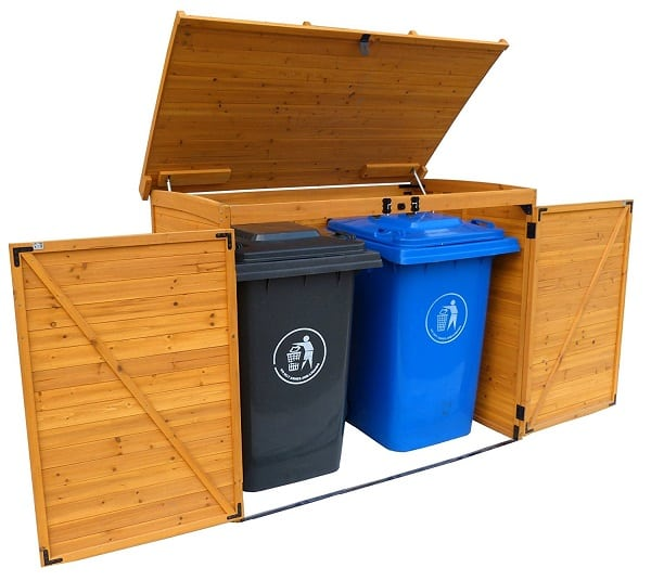 Leisure Season Large Horizontal Garbage Shed