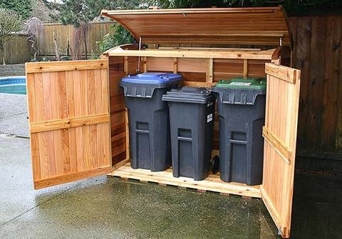 Outdoor Living Waste Storage Shed