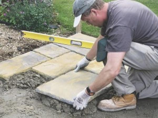 laying a paver shed foundation