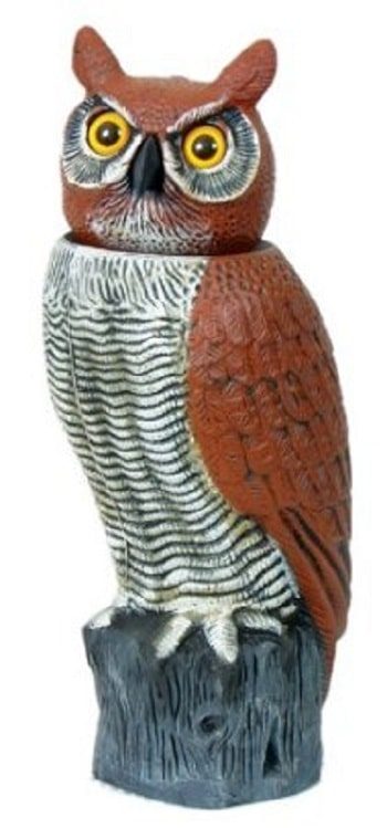 Plastic Owl With Moving Head Zacs Garden