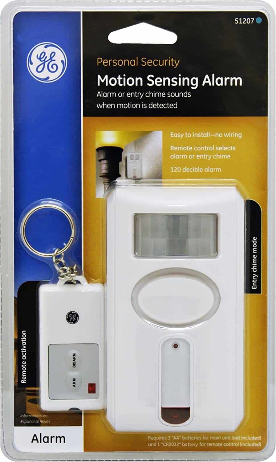 GE Personal Security Motion Sensor Alarm w/Remote Control